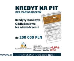 Kredyt na Pit, bez zaświadczeń przez cały rok, do 200 tys